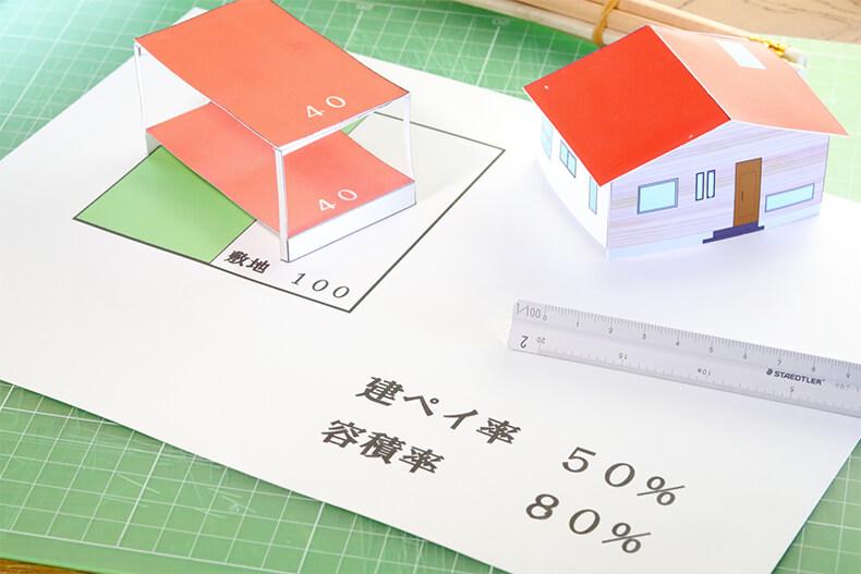 建ぺい率50%容積率80%の家の模型